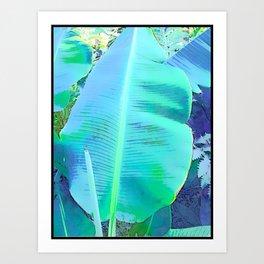 Blue Banana Art Print