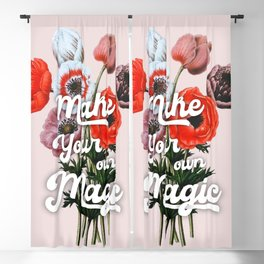 Make your on magic - summer poppies Blackout Curtain