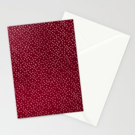 White Dots on Red Stationery Cards