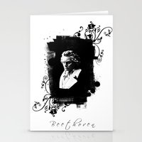 beethoven Stationery Cards featuring Beethoven by viva la revolucion