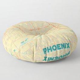Phoenix Map Retro Floor Pillow