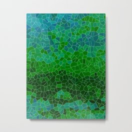 Mosaic Forest Metal Print
