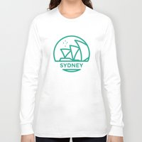 sydney Long Sleeve T-shirts featuring Sydney by BMaw