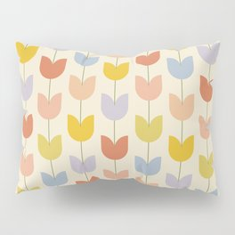 Tulip Pattern - Rainbow Pillow Sham