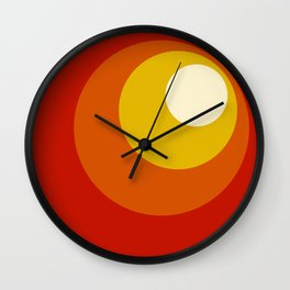 Ceridwen - Classic Colorful Abstract Minimal Retro 70s Style Dots Design Wall Clock