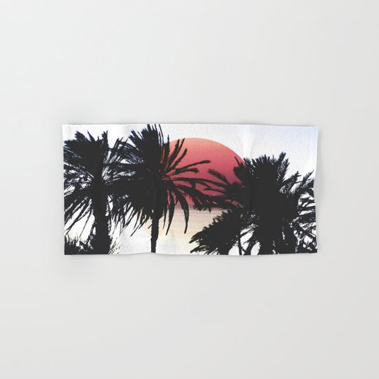 tropical sunset  Hand & Bath Towel