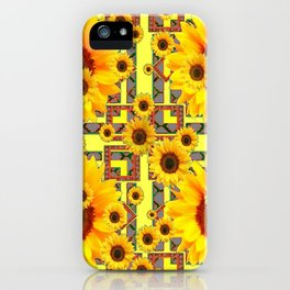 KANSAS WESTERN STYLE YELLOW SUNFLOWER FLORAL iPhone Case