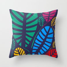 Jungle Night Pattern Floral Decoration Throw Pillow