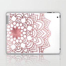 Elegant faux rose gold floral mandala Laptop & iPad Skin