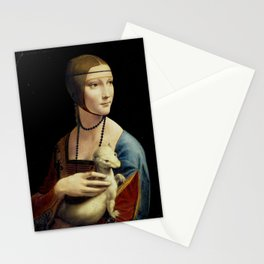 Leonardo da Vinci - The Lady with an Ermine Stationery Cards