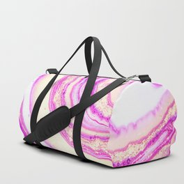Marble pink and gold Duffle Bag