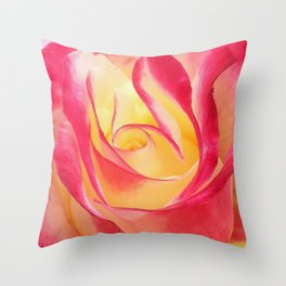Summer Rose Untouched Throw Pillow