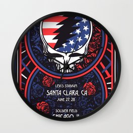 Fare Thee Well - Chicago, IL Wall Clock