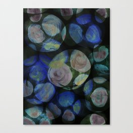 Blue and Black Around Canvas Print