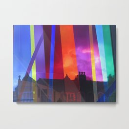 Liverpool Rainbow Metal Print