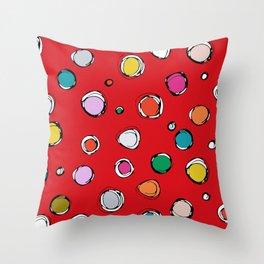 wilderdot red Throw Pillow