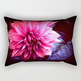 Pink & Indigo Flower Rectangular Pillow