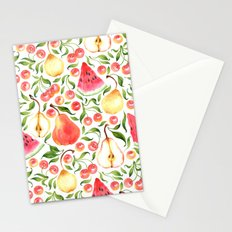 Watercolor fruits Stationery Cards