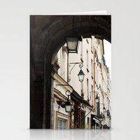 outdoor Stationery Cards featuring Classic Outdoor Lamps in Paris by Marquis de Noir