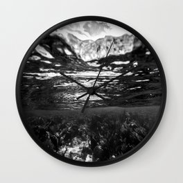 Monochrome Caribbean Layers Wall Clock