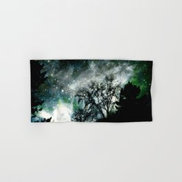 Black Trees Mysterious Blue Green Space Hand & Bath Towel