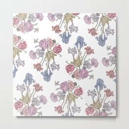 Colored Floral Pattern Metal Print