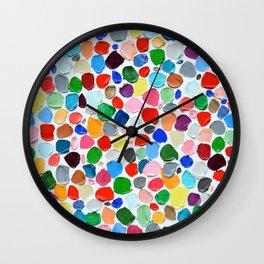 Polka Daub Pebbles Wall Clock
