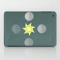 moon phases iPad Cases featuring Phases by Shelby Thompson