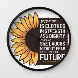 Sunflower Future Wall Clock