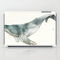 whale iPad Cases featuring Humpback Whale by Amy Hamilton