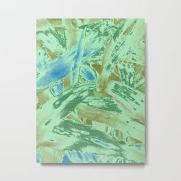 Tropical texture in gradient of green and blue colours ready for many products Metal Print
