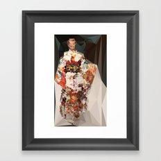 polygonal kimono impress Framed Art Print