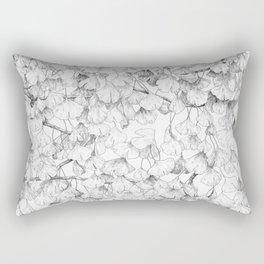 Ginkgo biloba - pattern in black Rectangular Pillow