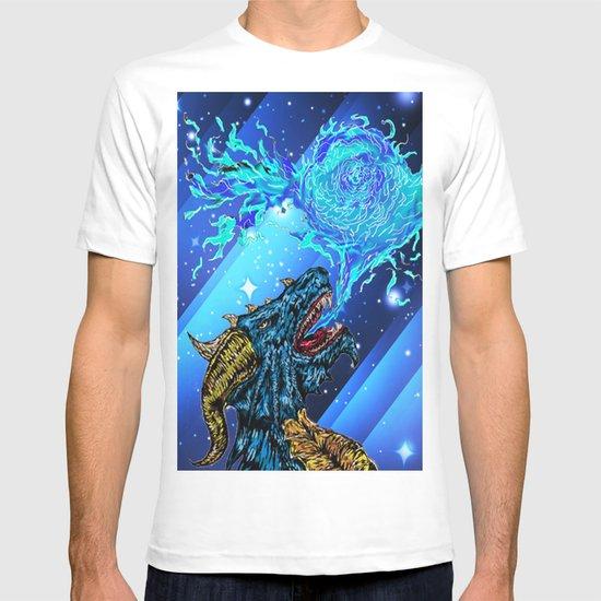 blue dragon fire artist T-shirt
