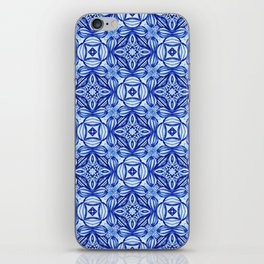 For the Love of Blue - Pattern 372 iPhone Skin