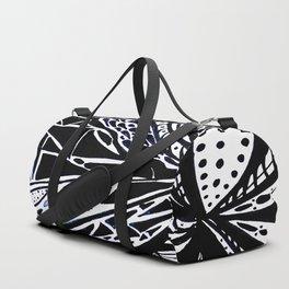 Gaia's Garden in Black & White 3 Duffle Bag