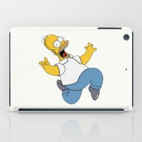 simpson iPad Cases featuring Crazy Homer Simpson by Yuliya L