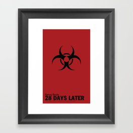 28 Days Later | Minimal Movie Poster Framed Art Print