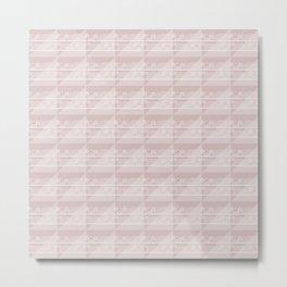 Modern Simple Geometric 3 in Shell Pink Metal Print