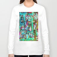 boyfriend Long Sleeve T-shirts featuring BOYFRIEND SWEATS -2- by Glint & Lime Art