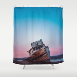Point Reyes Shipwreck | Sunset Point Reyes Inverness California Landscape Travel Photography Shower Curtain