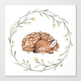 Wildflower Fawn Canvas Print