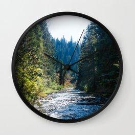 Fall Trees Photography Print Wall Clock