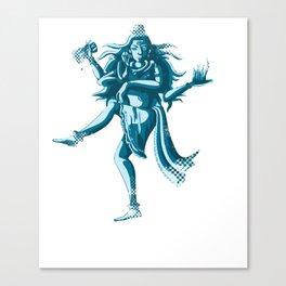 Dancing Lord Nataraja Shiva Canvas Print