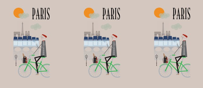 Paris - In the City - Retro Travel Poster Design Coffee Mug