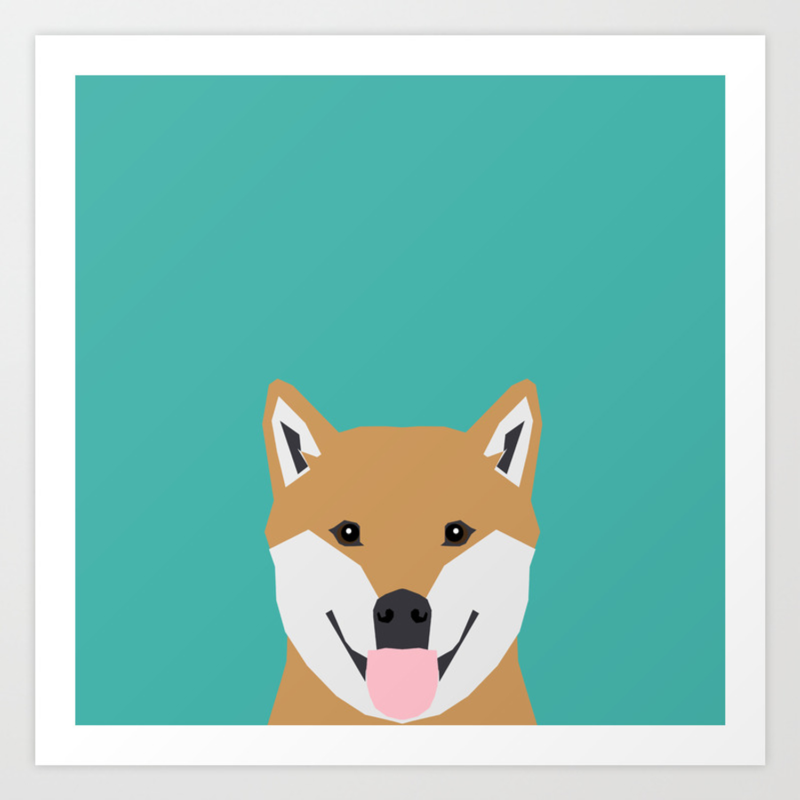 Shiba Inu Dog Head Cute Gifts For Shiba Inus Lovers Dog Breed Art Art Print By Shibashop Society6