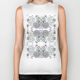 Space Doodles Pattern Biker Tank