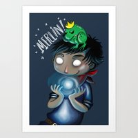 merlin Art Prints featuring Merlin!!! by Fla'Fla'