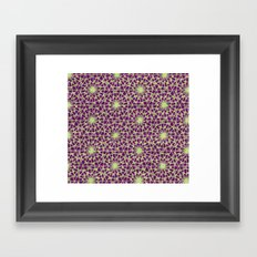 geometric vintage purple/green Framed Art Print
