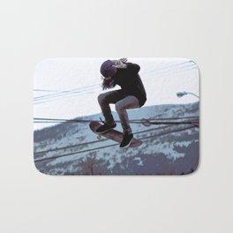 High Flying Skateboarder Bath Mat